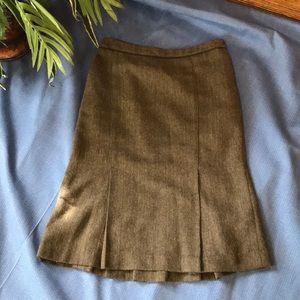 ZARA BASIC Brown & Black Skirt